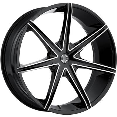 2Crave No. 29 Black Machined Wheels