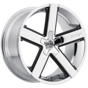 2Crave Wheels No. 35 Chrome with Optional Black Inserts