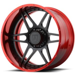 Asanti Offroad Series Wheels AB200 Black with Red Lip