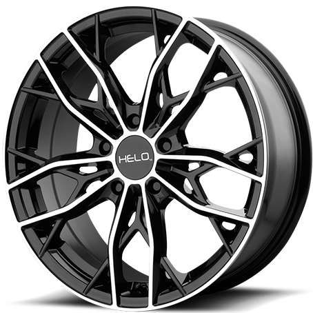 Helo HE907 Gloss Black Machine Wheels