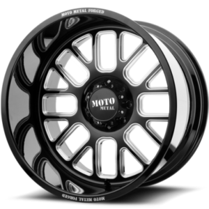 Moto Metal MO404 Gloss Black Milled Wheels
