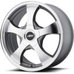 American Racing AR895 Machine Dark Silver Wheels