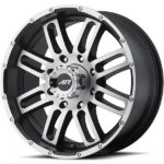 American Racing AR901 Machine Black Wheels