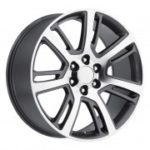 Factory Reproductions Replica Wheels Style 48 Cadillac Escalade Grey Machined