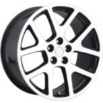 Factory Reporductions Replica Wheels Style 64 Viper Machined Black