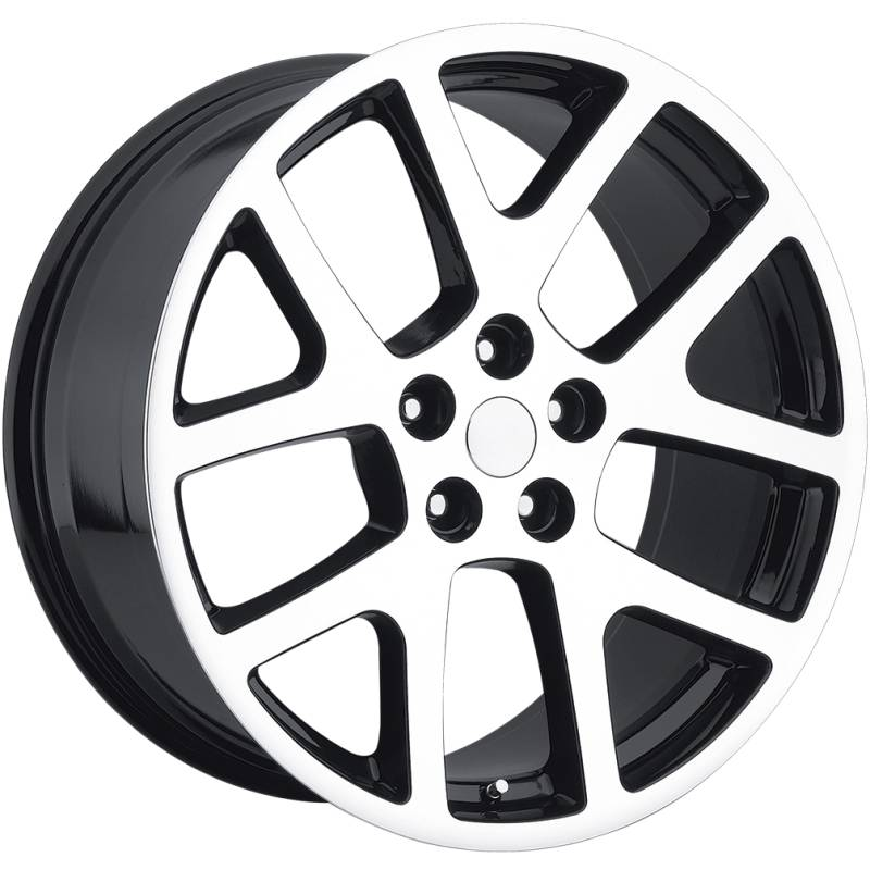 Factory Reproductions style 64 Viper Machine Black Wheels