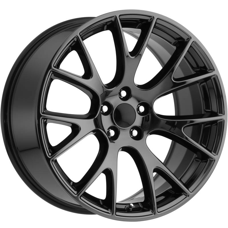 Factory Reproductions style 70 Dodge Hellcat Black Chrome Wheels