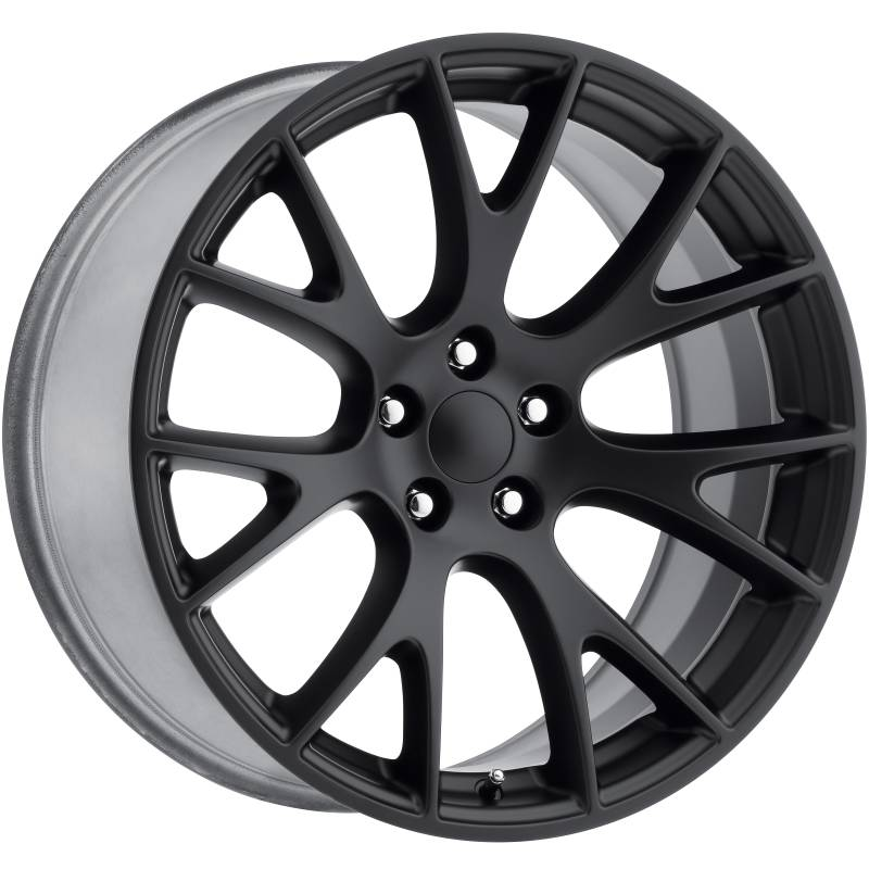 Factory Reproductions Style 70 Dodge Hellcat Satin Black Wheels