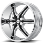 Helo Wheels HE891 Chrome w/Black Inserts