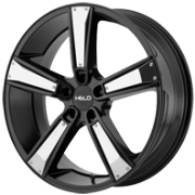 Helo HE899 Black Wheels with Chrome Inserts