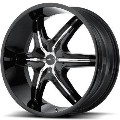 Helo HE891 Gloss Black with Chrome Inserts