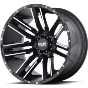 Moto Metal MO978 Black Machined Wheels