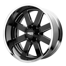 Moto Metal MO200 Black and Chrome Wheels