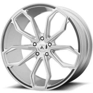 Asanti Black Label ABL-19 Brushed Silver Wheels with Carbon Inserts