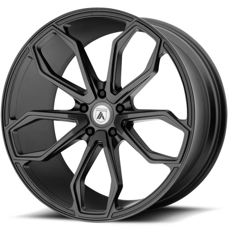 Asanti Black Label ABL-19 Matte Black Wheels