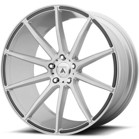 Asanti Black Label ABL-20 Brushed Silver Wheels