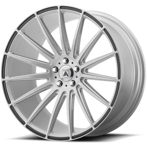 Asanti ABL-14 Silver Wheels with Carbon Inserts