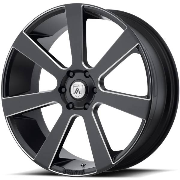 Asanti ABL-15 Satin Black Milled Wheels