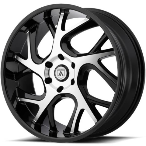 Asanti ABL-16 Gloss Black Machined Wheels