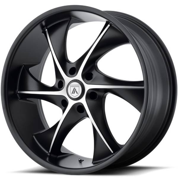 Asanti ABL-17 Satin Black Machined Wheels