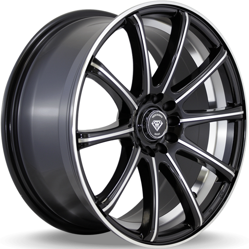 White Diamond W3195 Black Machined Wheels