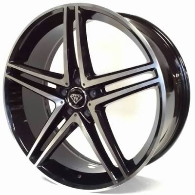 White Diamond W5179 Black Machined Wheels
