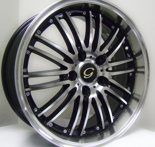 White Diamond W820 Machine Black Wheels