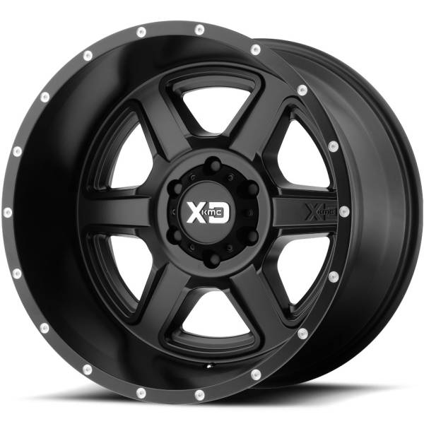 XD832 Fusion Satin Black Wheels