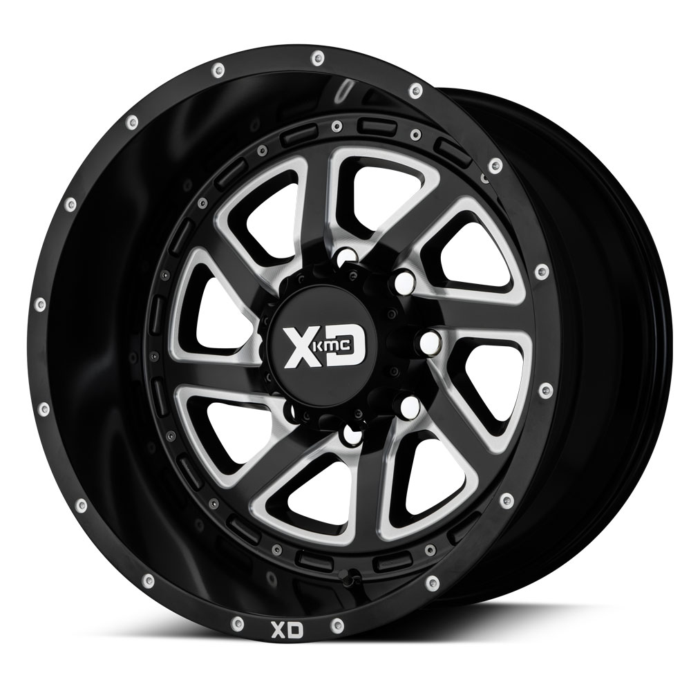 XD Series XD833 Recoil Satin Black Milled Wheels