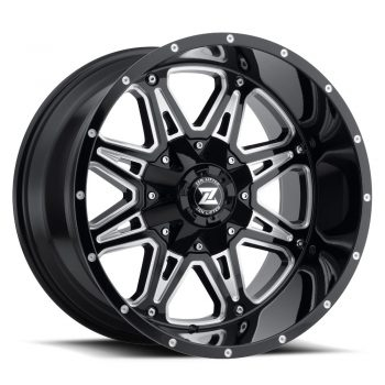 Zenetti Zen Lifted Hex Black Milled Wheels