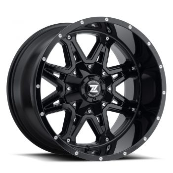 Zenetti Zen Lifted Hex Gloss Black Wheels