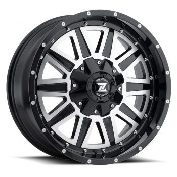 Zenetti Zen Lifted Pillar Machine Black Wheels