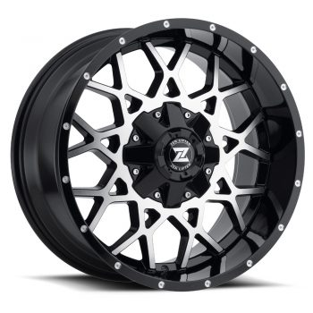 Zenetti Zen Lifted Storm Machine Black Wheels