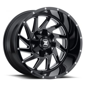 Zenetti Zen Lifted Twister Black Milled Wheels