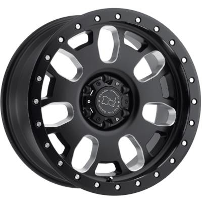 Black Rhino Block Matte Black Milled Wheels
