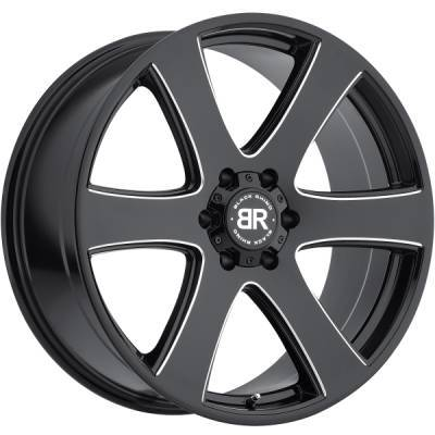 Black Rhino Haka Gloss Black Milled Wheels