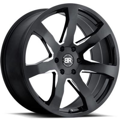 Black Rhino Mozambique Gloss Black Milled Wheels