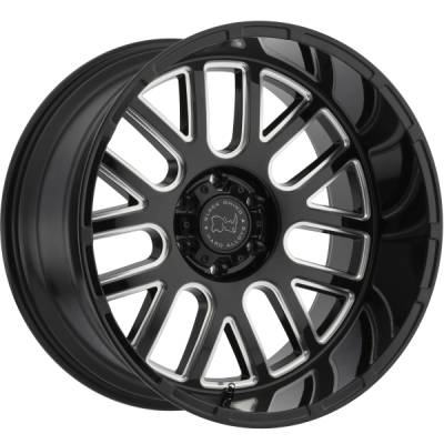 Black Rhino Pismo Gloss Black Milled Wheels