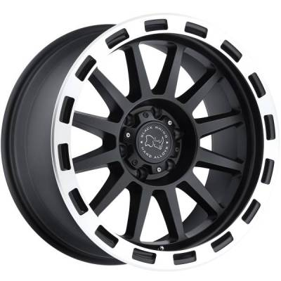 Black Rhino Revolution Matte Black Machined Wheels