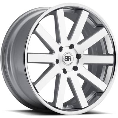 Black Rhino Savannah Machined Silver Wheels