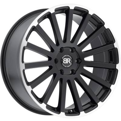 Black Rhino Spear Matte Black Machined Wheels