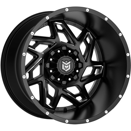 Dropstars 652BM Black Milled Wheels