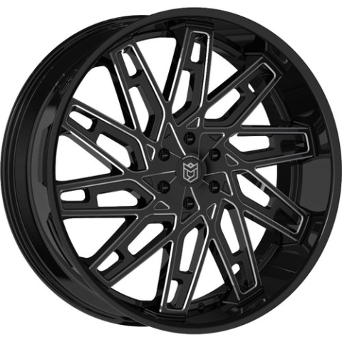 Dropstars 656BM Black Milled Wheels