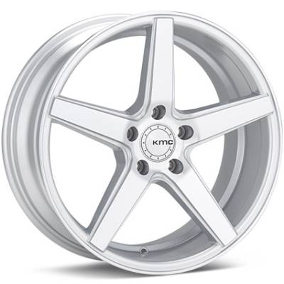 KMC KM685 District Silver Machined Wheels