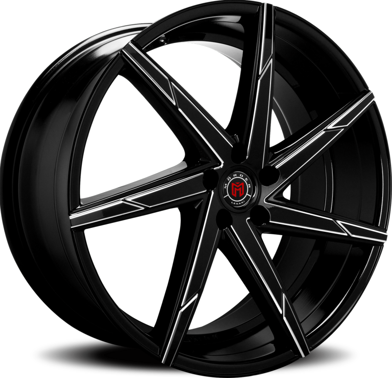 Morder MS-007 Black Milled Wheels
