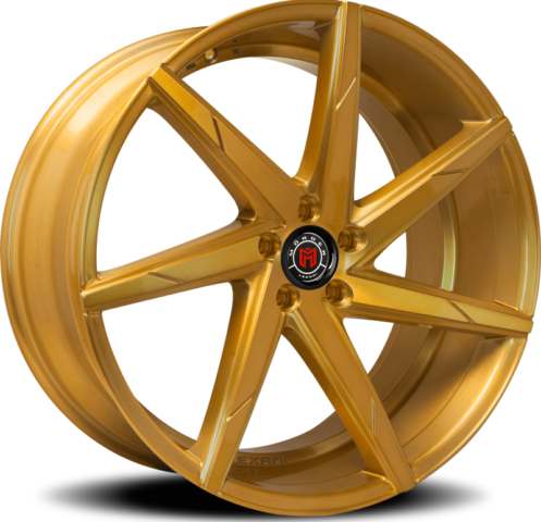 Morder MS-007 Custom Gold Wheels