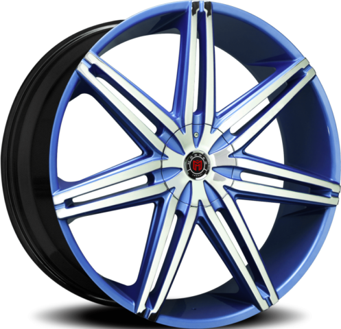 Morder MS-648 Chrome and Blue Wheels