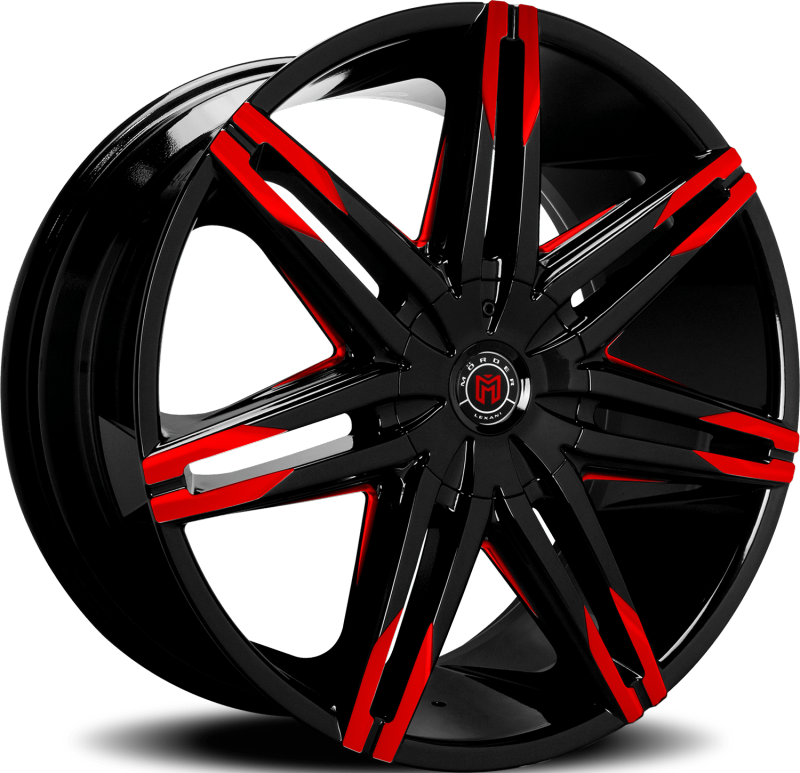 Morder Wheels MS-648 Black with Red Tips