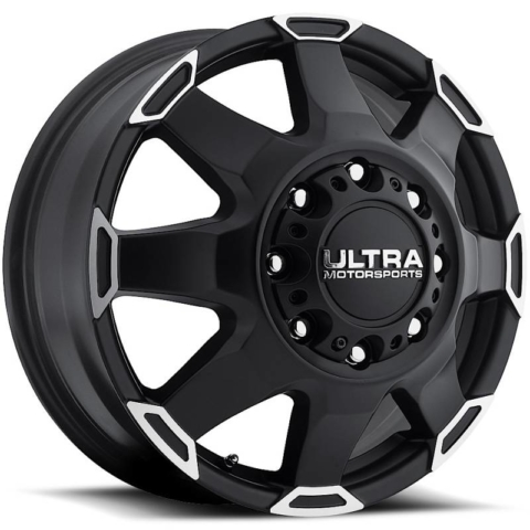 Ultra 025 Phantom Dually Front Black Wheels