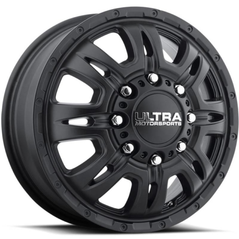 Ultra 049 Predator Dually Front Satin Black Wheels